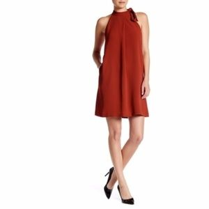Theory Espere Admiral Crepe Tie Neck Dress